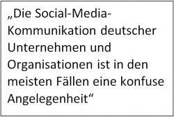 Es fehlt an einer Social-Media-Strategie