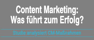 Studie Effektivität Content Marketing